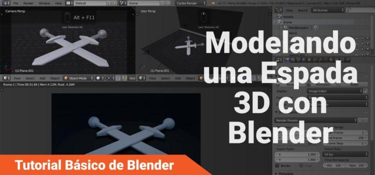 Tutorial Básico de Blender: Modelando una Espada 3D