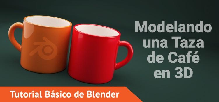 Tutorial de Blender modelando una taza de café