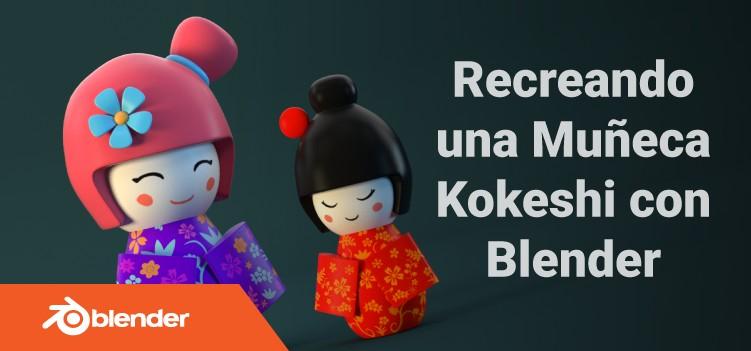 Tutorial blender 3d modelando un personaje kokeshi