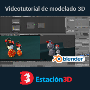 Tutorial de Blender: Recreando una Kokeshi doll